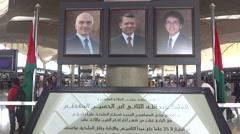 Amman Jordan Air port - stock footage