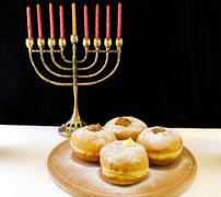 Jewish holiday hanukkah Stock Photos