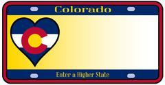 Colorado state license plate Stock Illustration