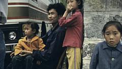 China 1987: children portrait Stock Footage