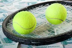 Tennis - expensive sport. Stock Photos