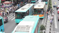 traffic on the street in Shenzhen, China - stock footage