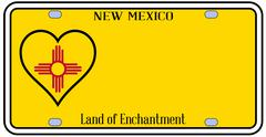 New mexico state license plateai Stock Illustration