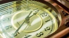 time lapse of the clock - stock footage