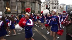 2015, new year's day parade, london - stock footage