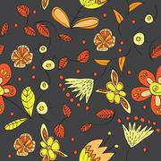 Vector floral  seamless pattern Stock Illustration