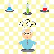 Stock Illustration of game for children - helping scientist