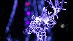 Glowing deer Head Stock Footage