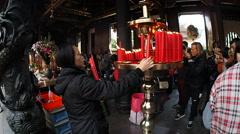 Longshan Temple - Taipei Stock Footage