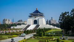 4k - Chiang Kai Shek Memorial Hall - Taipei Timelapse Stock Footage