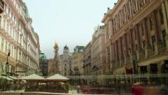 TIME LAPSE Overlooking Graben Vienna – tracking shot Stock Footage