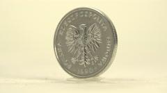 Poland Zlotcych Stock Footage