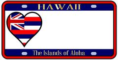 Stock Illustration of hawaii state license plate