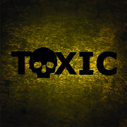 Toxic background with skull Stock Illustration