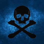 Skull pirate pattern Stock Illustration
