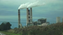 Driving Towards Coal Power Plant  Car Point Of View 4K Stock Footage