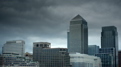 Canary Wharf, London, UK - stock footage