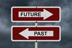 Future versus past Stock Illustration