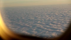 Clouds from plane sunset Stock Footage