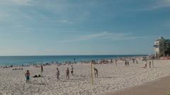 Beach Volleyball at Cottesloe Beach in Perth, Western Australia Stock Footage