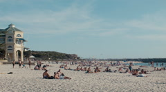 Friends Relaxing at Cottesloe Beach in Western Australia Stock Footage