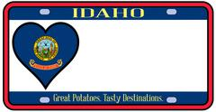 idaho state license plate - stock illustration
