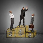 Success podium Stock Illustration