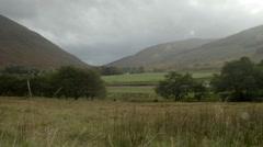 Beautiful field, pastoral Scotland Stock Footage