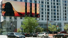 4K, UHD, Digital electronic, billboard in Los Angeles, BlackMagic Camera Stock Footage