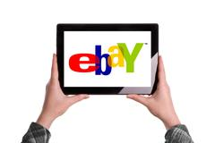 Stock Illustration of ebay logo on digital tablet
