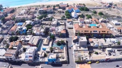 Aerial view of Santa Maria city in Sal Cape Verde - Cabo Verde Stock Footage