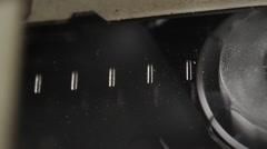 Cassette videotape recorder inside. Stock Footage