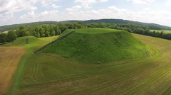 Etowah Indian Mounds, Cartersville, GA 06-14-2014 Stock Footage
