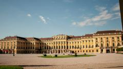 TIME LAPSE castle Schoenbrunn Vienna – tracking shot Stock Footage