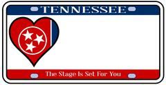 Tennessee state license plate Stock Illustration
