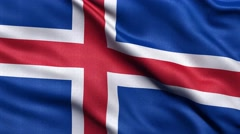 4K Flag of Iceland seamless loop Ultra-HD Stock Footage