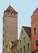 Stock Photo of regensburg medieval town germany