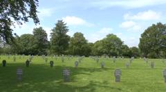 The German Orglandes War cemetery, Orglandes, Normandy France. Stock Footage
