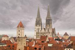 Regensburg medieval town germany Stock Photos