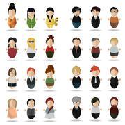 Modern set of people Stock Illustration