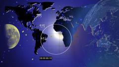 Planet Earth and Moon. Image Moon has been found thanks to NASA. - stock footage