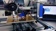 Print prototype on 3d printer Stock Footage