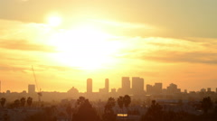 Century City at Sunset Timelapse - stock footage