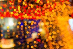 defocus blurred orange bokeh background - stock photo