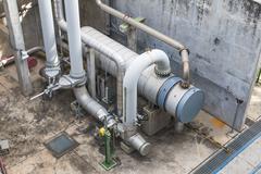 Heat exchanger with pipeline Stock Photos