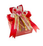 red gift box - stock photo
