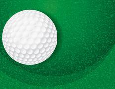 Golf ball on textured green illustration Stock Illustration