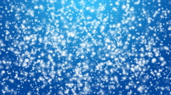 Winter snow fall animation on blue background - stock footage