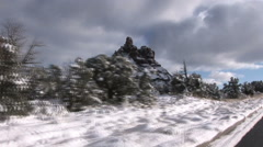 Bell Rock after Rare Snowfall Stock Footage
