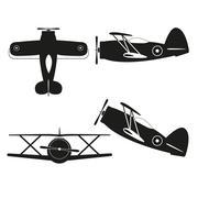 biplane - stock illustration